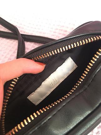 Siyah deri kol çantası