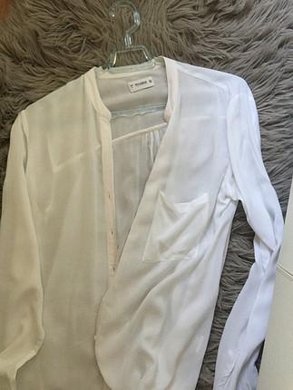 l Beden beyaz Renk Hakim yaka gömlek