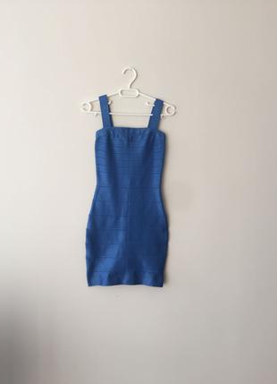 Mavi Bandaj Elbise S Beden Hiç Kullanılmadı Hervé Léger