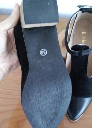 38 Beden siyah Renk vintage tarz ayakkabı