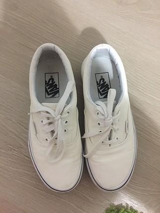 Vans beyaz spor ayakkabi