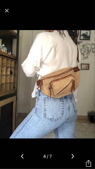 Hasır bel çantası