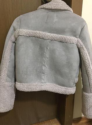 Bershka xs beden içi kürklü mont ceket