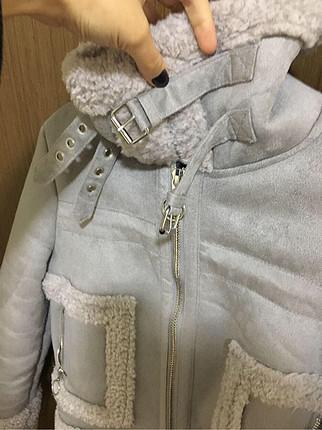 xs Beden Bershka xs beden içi kürklü mont ceket