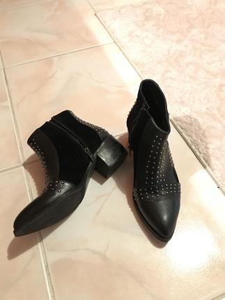 Siyah 36 Numara Bot Shoe Tek