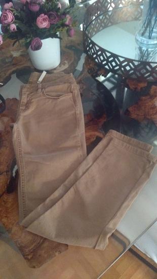 Yargici Sifir Camel Rengi Skiny Pantolon