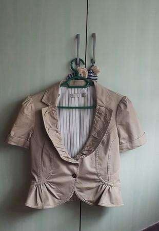 krem kısa ceket