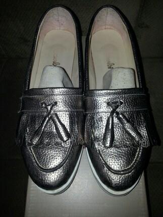 Bambi Gümüş Renkli Ayakkabi Ayakkabı