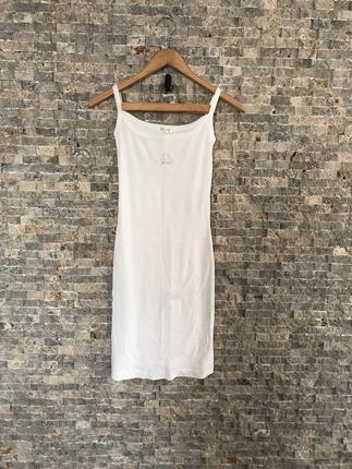 Adl Askılı Elbise Beyaz ADL