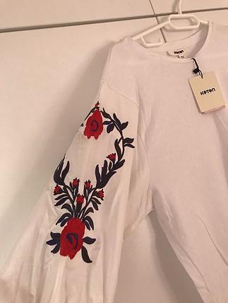 Koton nakışlı bluz