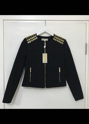 Michael Kors 36 Beden Gold Eyelet Siyah Ceket Yeni Etiketli Orij Dış giyim