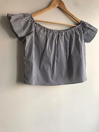 Zara Geniş yaka bluz