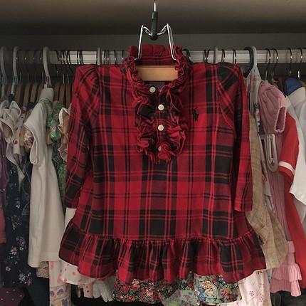 Ralph Lauren Ekose elbise
