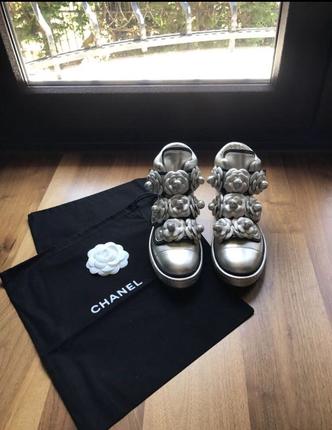 Chanel Gold Sneaker