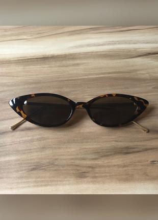 90?lar retro cat eye leopar desenli güneş gözlüğü