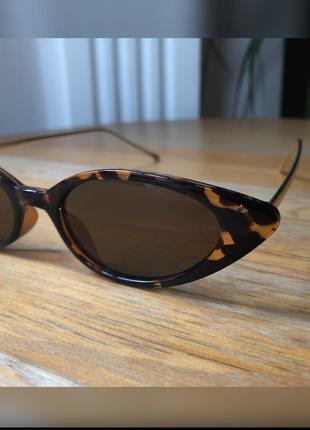 Vintage Love 90?lar retro cat eye leopar desenli güneş gözlüğü
