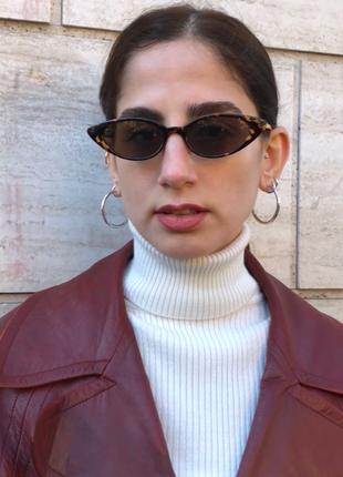 universal Beden çeşitli Renk 90?lar retro cat eye leopar desenli güneş gözlüğü