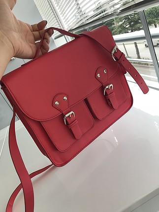 H&M Studio Kırmızı çapraz çanta.