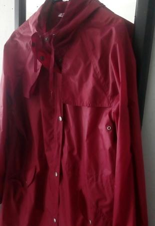xl Beden kırmızı Renk yağmurluk koyu kırmızı