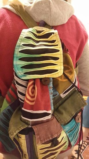 l Beden çeşitli Renk Etnik desenli sırt çantası