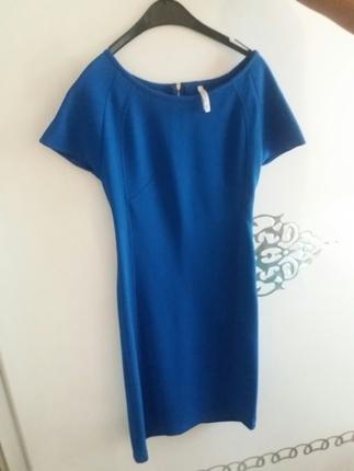 Mavi Mini Elbise Stradivarius