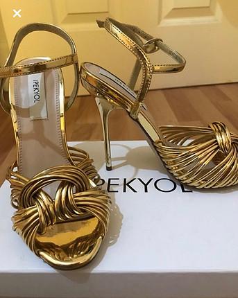 36 Beden altın Renk İpekyol ayakkabı
