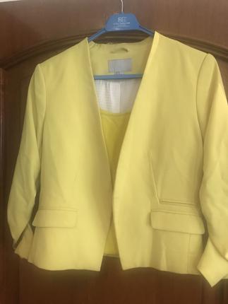 H&m Sarı Ceket 40 Beden Blazer