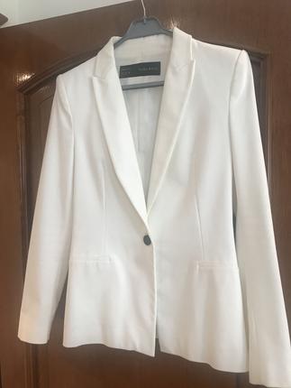 Zara Ceket Beyaz Medium Blazer