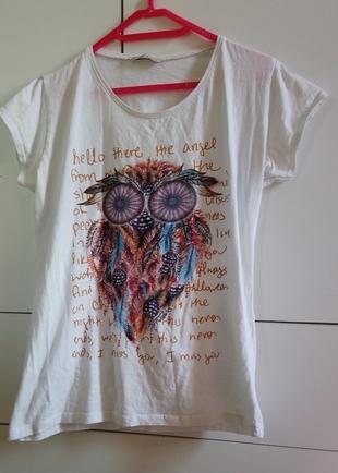tüy baskılı tişört