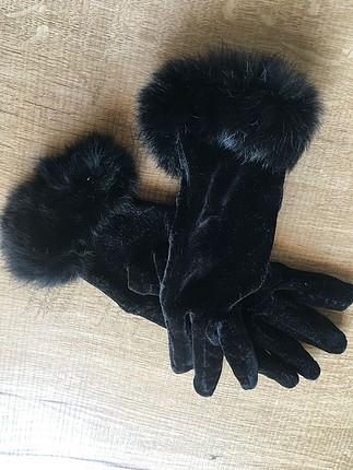 Siyah kadife Eldiven
