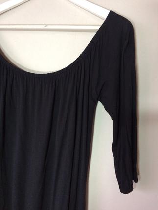 Diğer Açık yaka siyah elbise