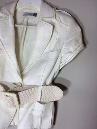 s Beden beyaz Renk Kısa beyaz ceket