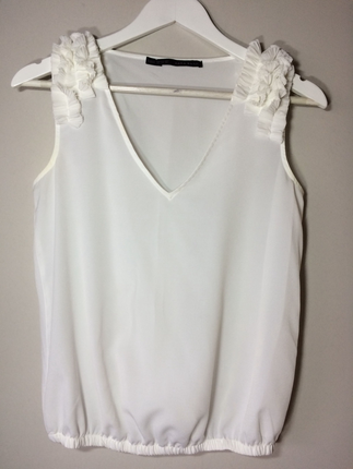 Zara kol detaylı bluz