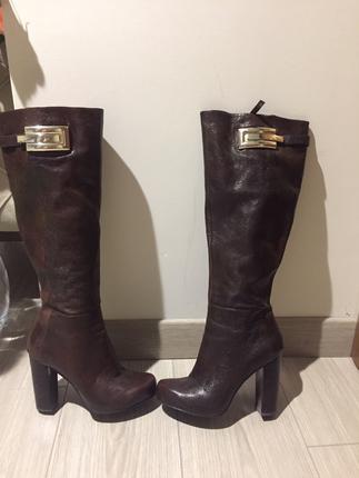 Deri Çizme Nine West