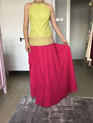 Abiye Fuşya elbise