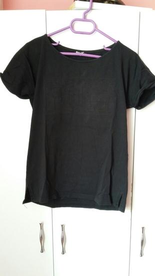 Folk Yazılı Tişört T-shirt