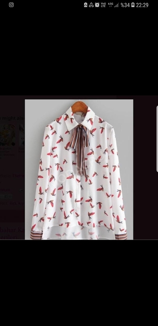 Zara kuş desenli gömlek