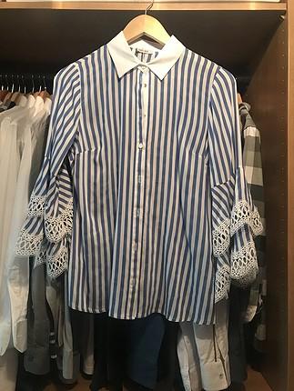 36 Beden mavi Renk Hanzade marka pantolon gömlek