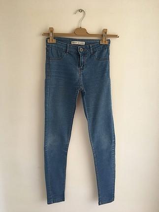 Mavi kot pantalon