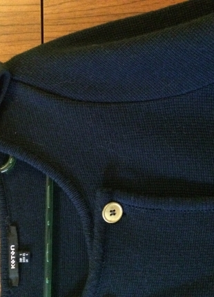 36 Beden mavi Renk Koton Lacivert Hırka/Ceket