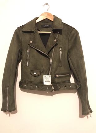 Zara Haki süet ceket