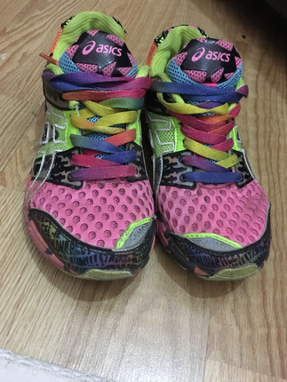 Renkli Asica Tiger Spor Ayakkabı Asics