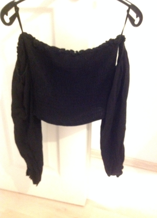 34 Beden siyah Renk Koton bluz
