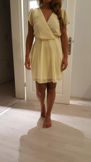 asos limon sarısı elbise