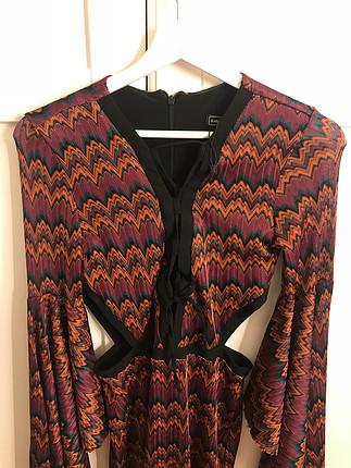 36 Beden çeşitli Renk Yarasa kol bohem elbise