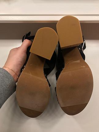 36 Beden siyah Renk Dolgu topuk ayakkabı