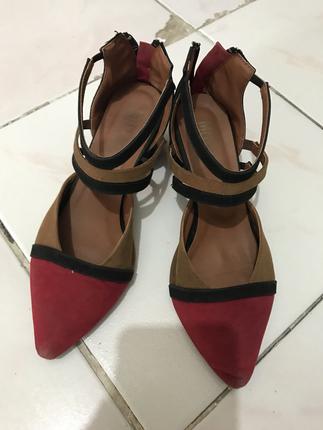 Çok Renkli Topuklu Ayakkabı Mecrea