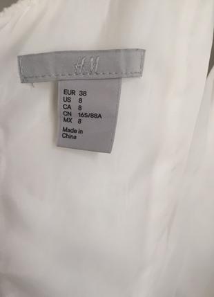 H&M Beyaz abiye