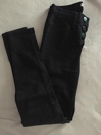 Yuksek Bel siyah pantolon