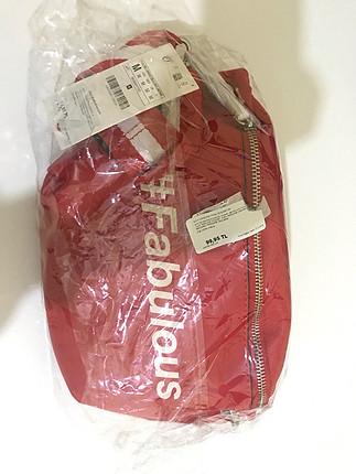 Stradivarius Kırmızı bel çantası